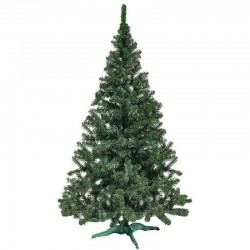 Brad artificial verde Christmas Green, cu cetina verde, suport inclus