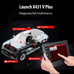 Diagnoza auto Android 4.0, internet, ecran capacitor, Launch X431 V PLUS