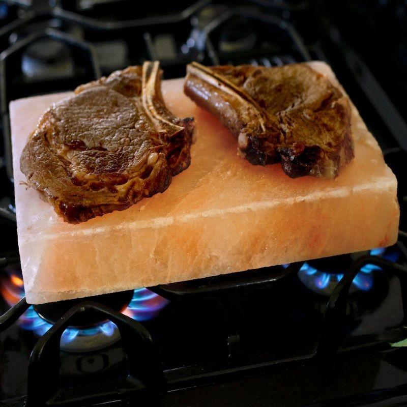 Blat de gatit din sare de Himalaya, 2.2 kg, 20x20x2.5 cm, pentru alimente