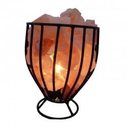 Lampa de sare, 15W, E14, intrerupator on/off, suport tip cos metalic