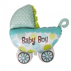 Balon carucior Baby Boy, dimensiuni 107x76, albastru, baieti