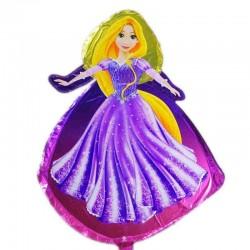 Balon folie figurina Rapunzel, 60x40 cm, fetite, aer sau heliu