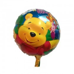Balon folie rotund Winnie the Pooh's, diametru 45 cm, petreceri, aer si heliu