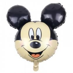 Balon folie cap Mickey Mouse, dimensiuni 61x61 cm, petreceri, aer sau heliu