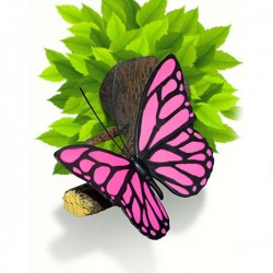 Lampa 3D Fluture roz
