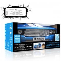 Lampa 3D Mustang clasic albastru