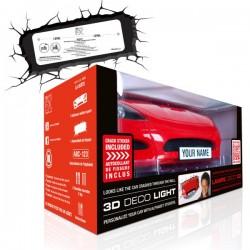 Lampa 3D masina Sport