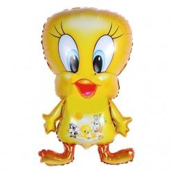 Balon folie figurina Tweety, 77x44 cm, aer sau heliu, petrecere