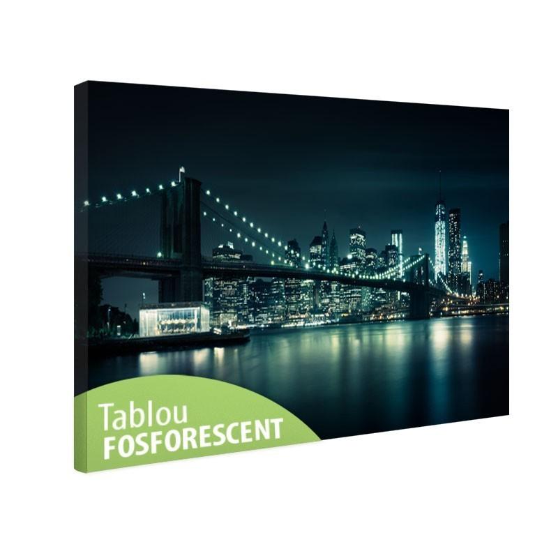 Tablou canvas fosforescent Brooklyn Bridge Night