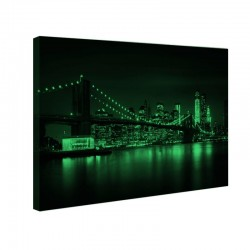Tablou canvas fosforescent Brooklyn Bridge Night