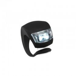 Lumini siguranta bicicleta, LED, 3 moduri iluminare, silicon, set 2 piese