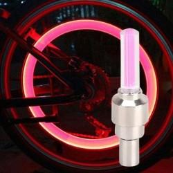 Ventil tip licurici, roz cu lumina rosie, set 2 bucati