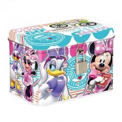 Pusculita Minnie Mouse, metalica cu lacatel, forma dreptunghiulara