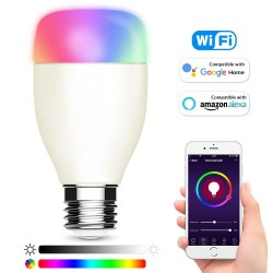 Bec smart inteligent LED, wi-fi 2.4 GHz, RGBW, control telefon