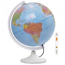 Glob pamantesc iluminat, creion vorbitor, harta limba engleza, 30 cm