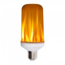 Bec cu LED SMD, 3 moduri de iluminare , efect flacara, 5.3W, alb cald