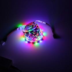 Banda LED RGB flexibila, autoadeziva, 5 m, IP65, controller