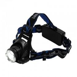 Lanterna frontala LED, 3 moduri iluminare, flexibila, Zoom