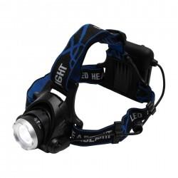Lanterna de cap cu LED, Zoom, 3 moduri iluminare, baterii