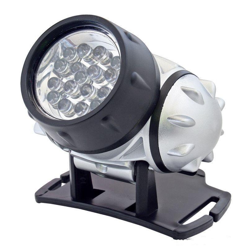 Lanterna frontala, 19 LED-uri, 4 moduri iluminare, rezistenta la apa