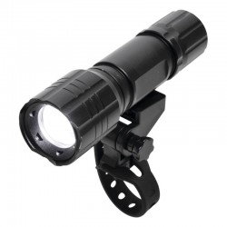 Lanterna metalica LED, functie Zoom, 3 moduri iluminare, fixare bicicleta