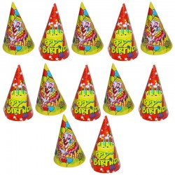 Coif Party Happy Birthday, 16 cm, set 12 bucati