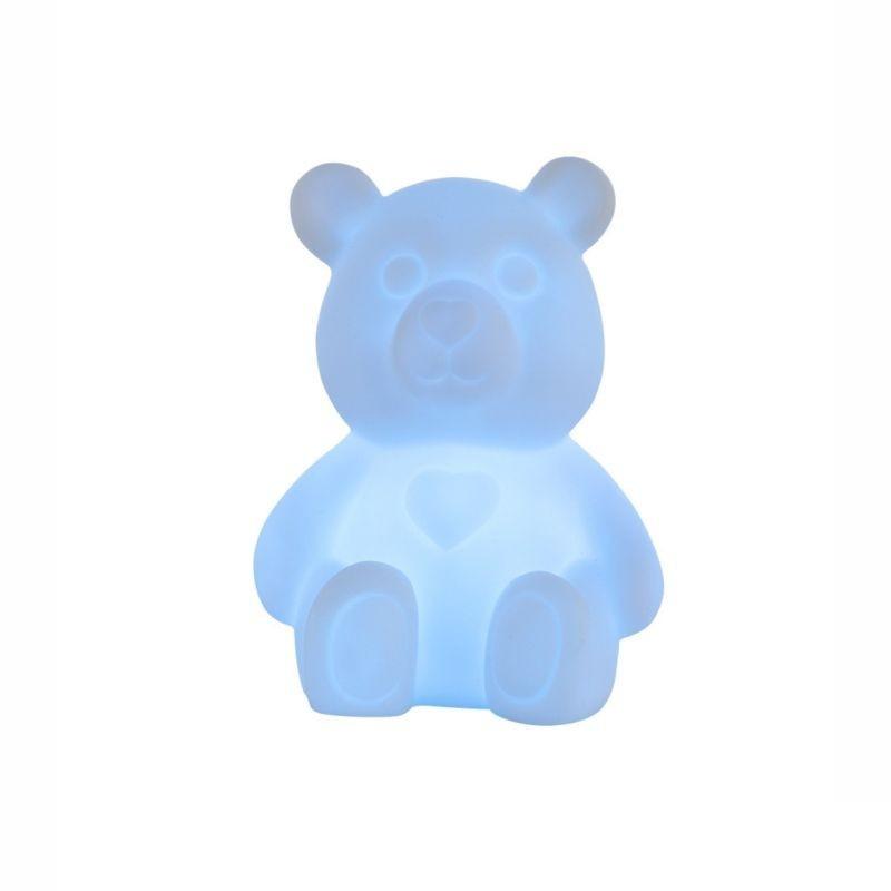 Lampa de veghe Ursulet, LED RGB 0.06W, 11 cm, silicon