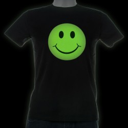 Tricou fosforescent Smiley Face