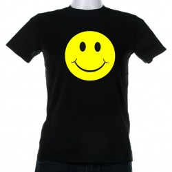 Tricou fosforescent Smiley Face