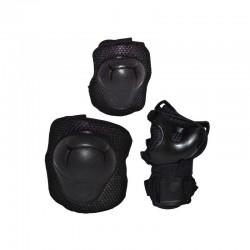 Set de protectie pentru copii, cotiere si genunchiere, sistem prindere cu scai