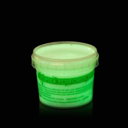 Vopsea glow in the dark fosforescenta, luminescenta, transparenta care lumineaza verde