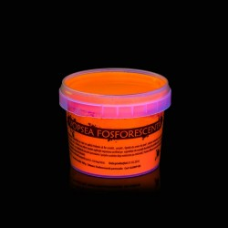 Vopsea glow in the dark fosforescenta care lumineaza portocaliu