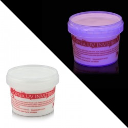 Vopsea invizibila fluorescenta reactiva UV, transparenta rosie