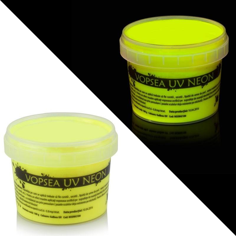 Vopsea UV neon galbena