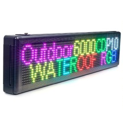 Reclama luminoasa LED RGB, WiFi, panou personalizabil, 100x40 cm, exterior