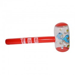Ciocan gonflabil copii, imprimeu Delfini, efecte sonore, 27x63 cm, rosu