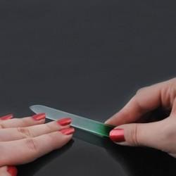 Pila profesionala pentru unghii, 14x1.2 cm, material sticla