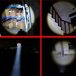 Lanterna auto-aparare CREE LED, 7W, lungime reglabila, Zoom, aluminiu