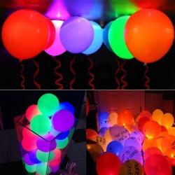 SET 5 baloane multicolore cu LED, diametru 30cm, Latex