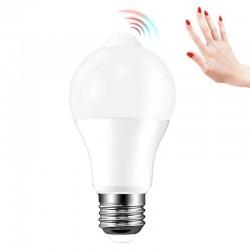 Bec LED lumina naturala, senzor PIR A60 putere 10W, soclu E27