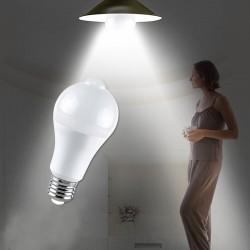 Bec LED 12W, senzor de miscare, E27, forma A60, lumina alb rece