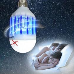 Lampa UV anti-insecte 2 in 1, bec LED 8W, soclu E27, alb
