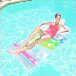 Saltea gonflabila piscina, maxim 90 kg, 147x84 cm, spatar si cotiere