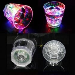 Pahar luminos cu LED RGB, acril, 150 ml, 9x8 cm, petrecere