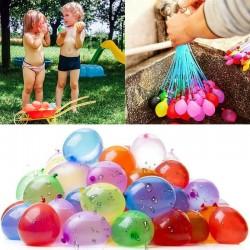 Baloane colorate pentru apa, sistem prindere, set 111 bucati, latex