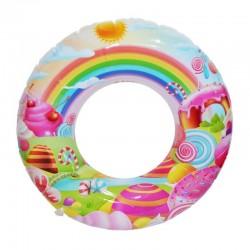 Colac de baie gonflabil Lollipop pentru copii, imprimeu multicolor