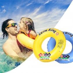 Colac de baie gonflabil, model fete si baieti, diametru 90 cm, galben