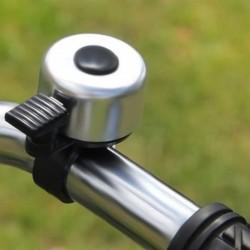 Sonerie bicicleta tricicleta, mecanica, sunet puternic, 3.5x5 cm, argintiu