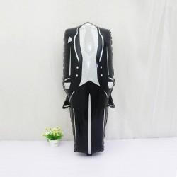 Balon folie costum Mire, 74x38 cm, decoratiune nunta, alb negru