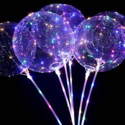Balon Bobo luminos, LED multicolor, 3 moduri iluminare, diametru 35 cm, petrecere